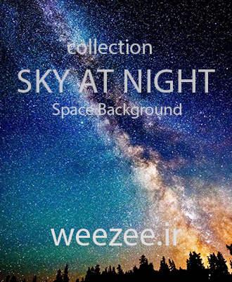 دانلود تصاویر بکگراند آسمان در شب ویزی