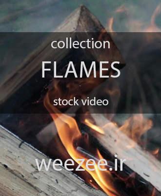 دانلود ویدیوی استوک شعله آتش