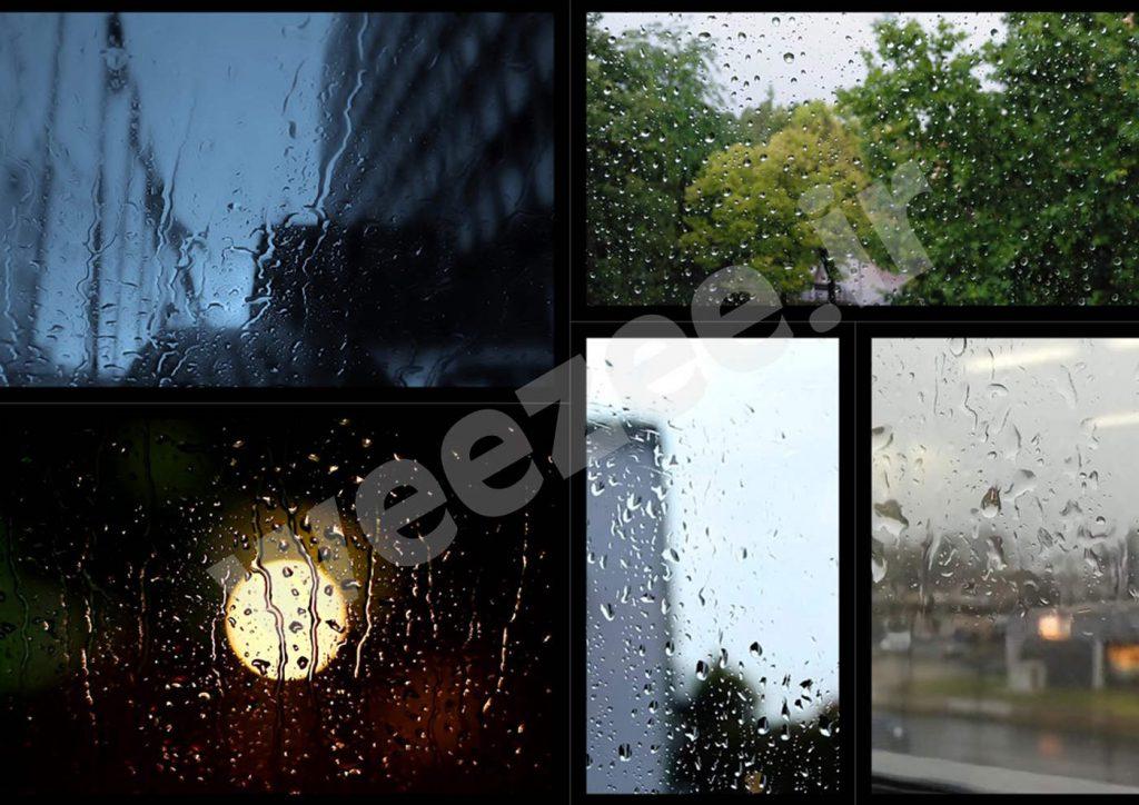 دانلود ویدیوی استوک قطرات باران سایت ویزی