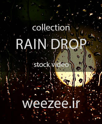 دانلود ویدیوی استوک قطرات باران